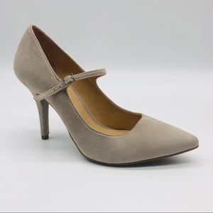 Micheal Kors Seude Taupe Pumps w/ Strap